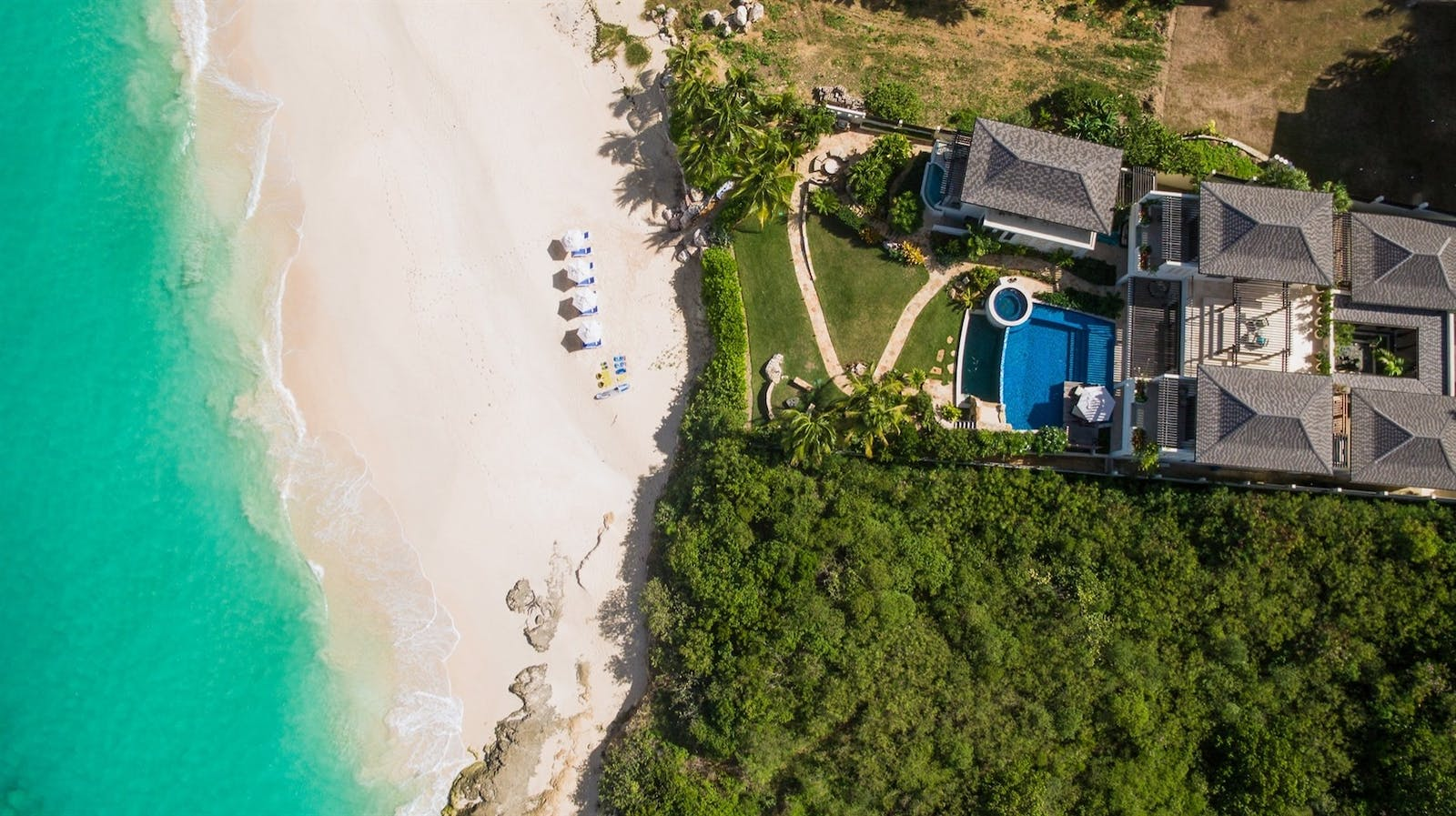 aerial view of nevaeh villa anguilla