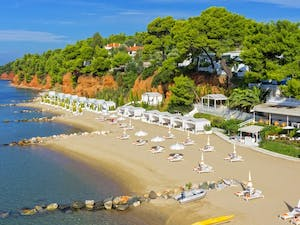 Aerial View of Danai Beach Resort & Villas, Halkidiki, Greece