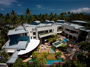 Aerial shot of Port Douglas Peninsula Boutique Hotel