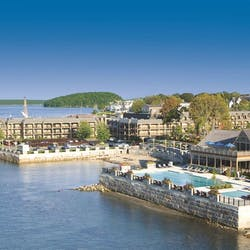 Aerial View of Harborside Hotel, Spa & Marina, Maine