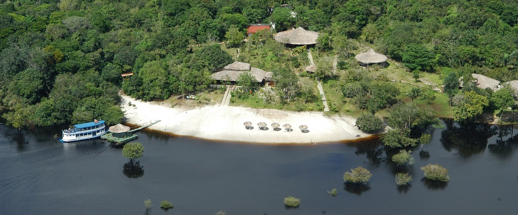 Aerial view of Amazon Eco Park Jungle Lodge, Brazil