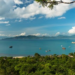 Aerial view of Six Senses Ninh Van Bay, Vietnam