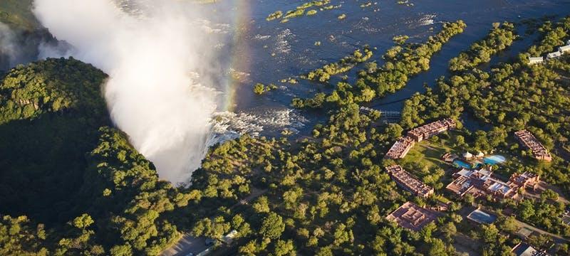 Aerial view of Victoria Falls at The Royal Livingstone by Anantara