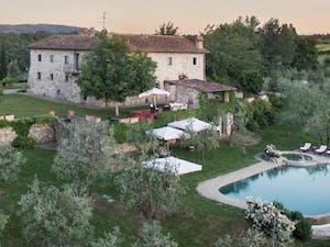 Aerial View of Villa Giuliana, Tuscany