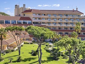 Aerial view of Hotel Gardens at Quinta Do Lago, Algarve, Portugal