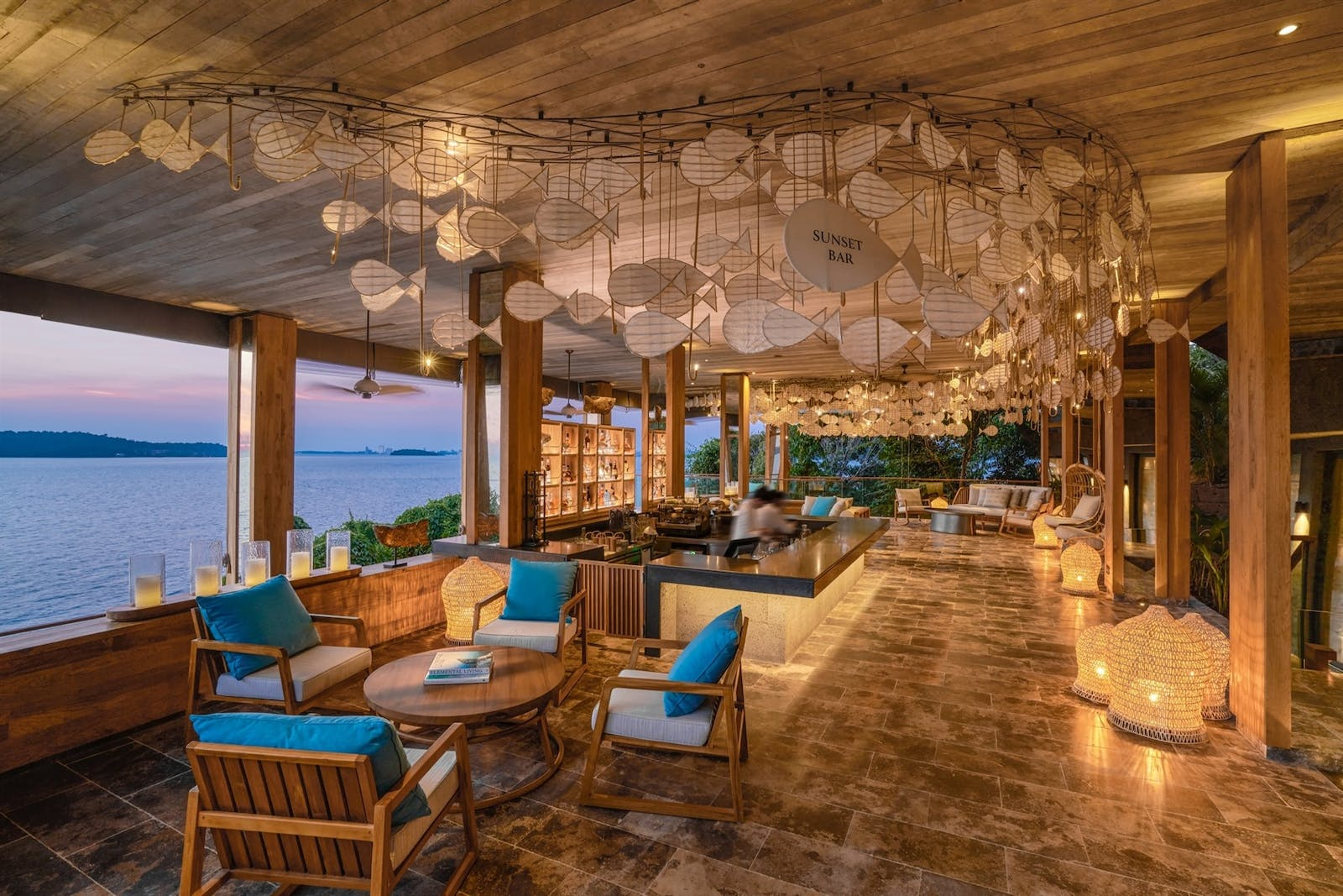 aha restaurant at six senses krabey island cambodia