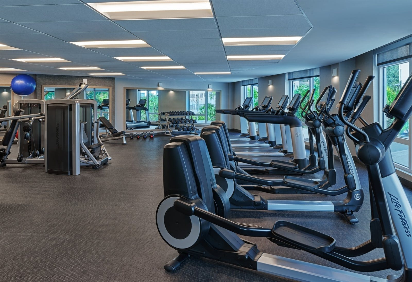 The gym at Art Ovation Hotel