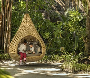 Kids reading pod at Anantara Kihavah Maldives Villas