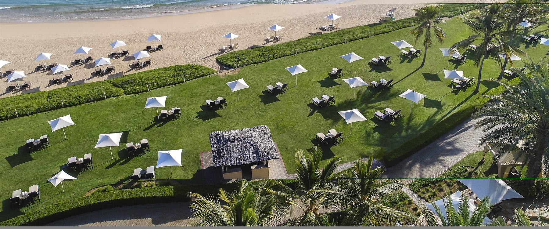 Aerial view of Shangri-La's Barr Al Jissah Resort & Spa, Al Bandar