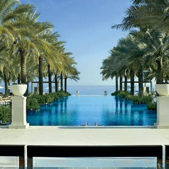 Swimming pool at Al Bustan Palace, A Ritz-Carlton Hotel, Muscat