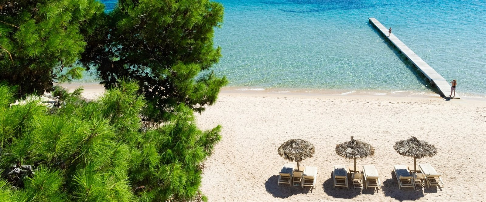 Soft Sand Beach at Forte Village Resort, South Sardinia, Italy