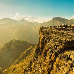 Aerial View of Mountains at Alila Jabal Akhdar