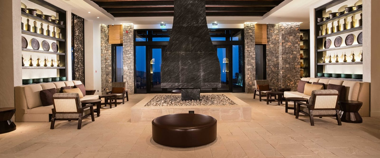 Interior Lobby at Alila Jabal Akhdar