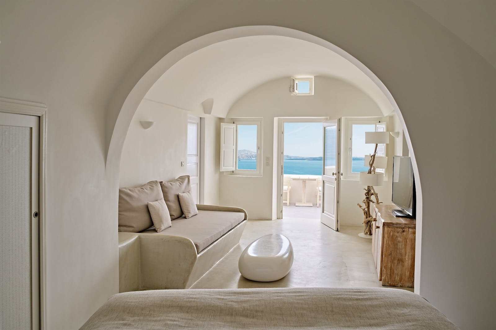 All Senses Suite Living Area, Mystique, Santorini, Greece