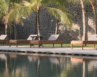 Sun loungers at Amangalla, Sri Lanka