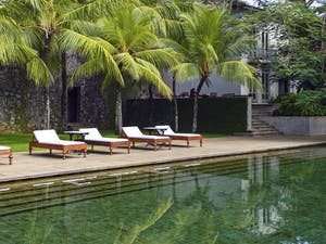 Swimming pool at Amangalla, Sri Lanka