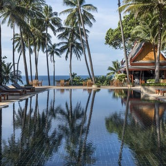 pool area at amanpuri phuket