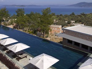 Swimming pool at Amanruya, Bodrum
