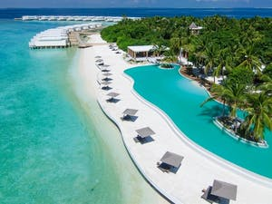 Swimming Pool at Amilla Fushi, Maldives, Indian Ocean