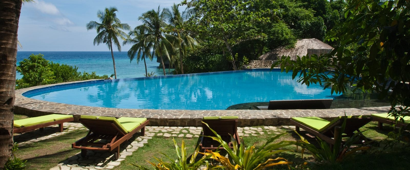 Infinity Swimming Pool at Amun Ini Beach Resort & Spa, Philippines