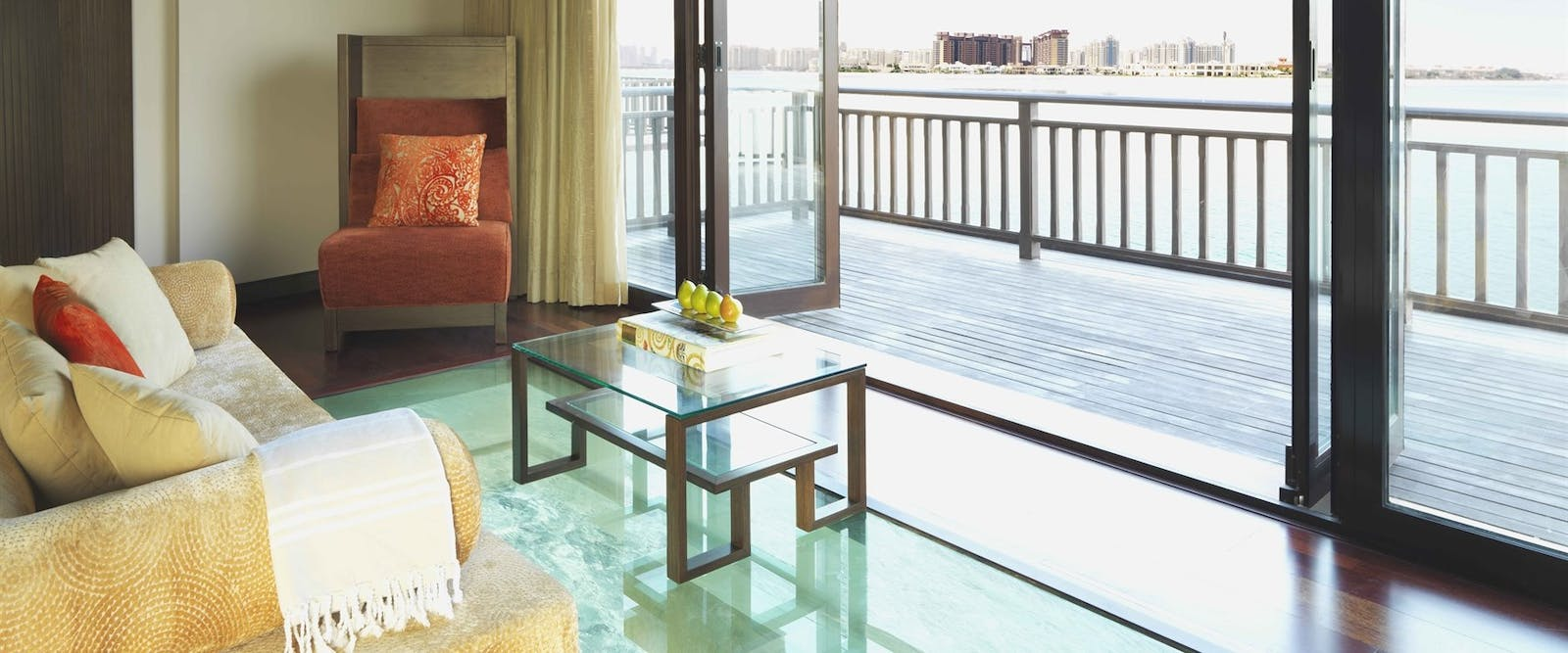Overwater Villa Bedroom at Anantara Dubai The Palm Resort & Spa
