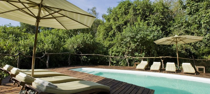 Pool at Lounge at &Beyond Lake Manyara Tree Lodge