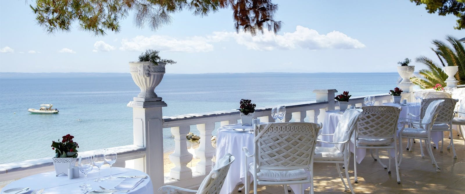 Restaurant Terrace at Danai Beach Resort & Villas, Halkidiki, Greece