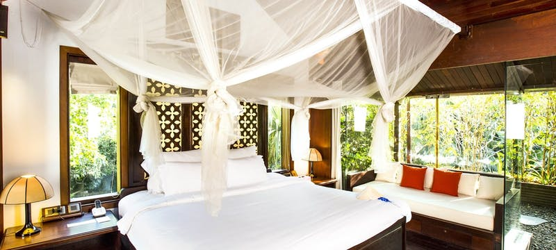 Anlam suite bedroom at An Lam Retreats Saigon River