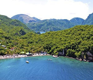 Aerial View of Anse Chastanet, St Lucia