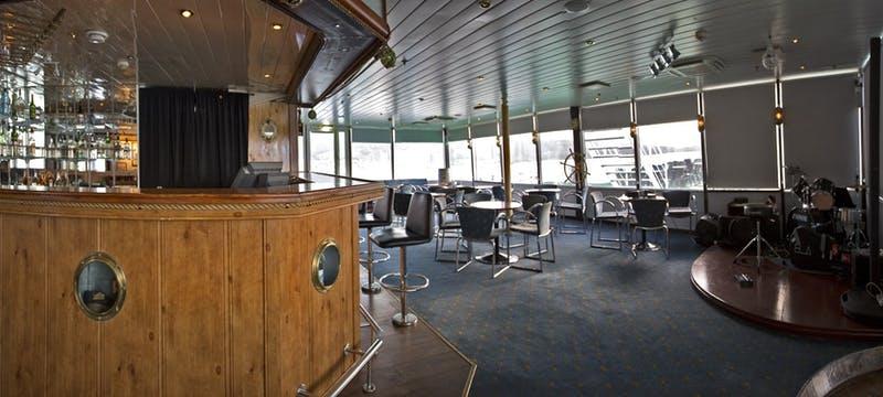 Bar area in G Expedition ship, Antarctica
