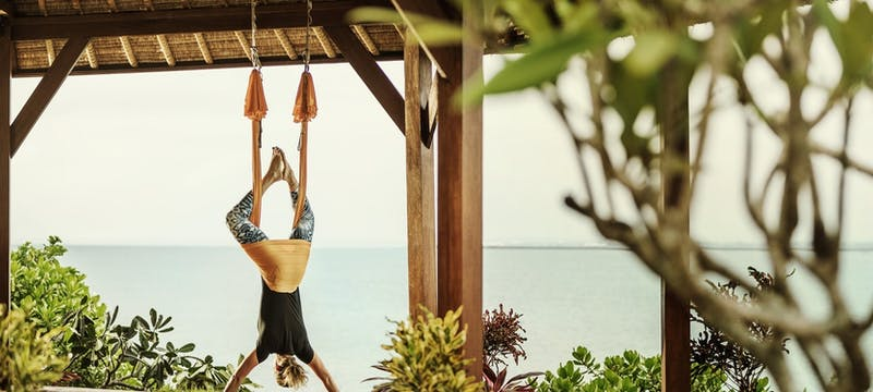 Anti Gravity Yoga at Four Seasons Resort Bali at Jimbaran Bay