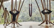 Anti gravity yoga at Four Seasons Resort Bali at Sayan