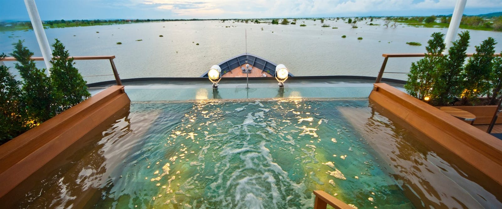 Plunge Pool at Aqua Mekong, Cambodia and Vietnam