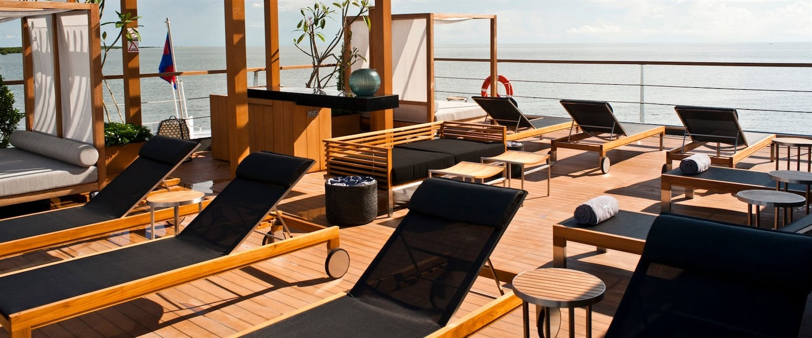 Sun Deck at Aqua Mekong, Cambodia and Vietnam