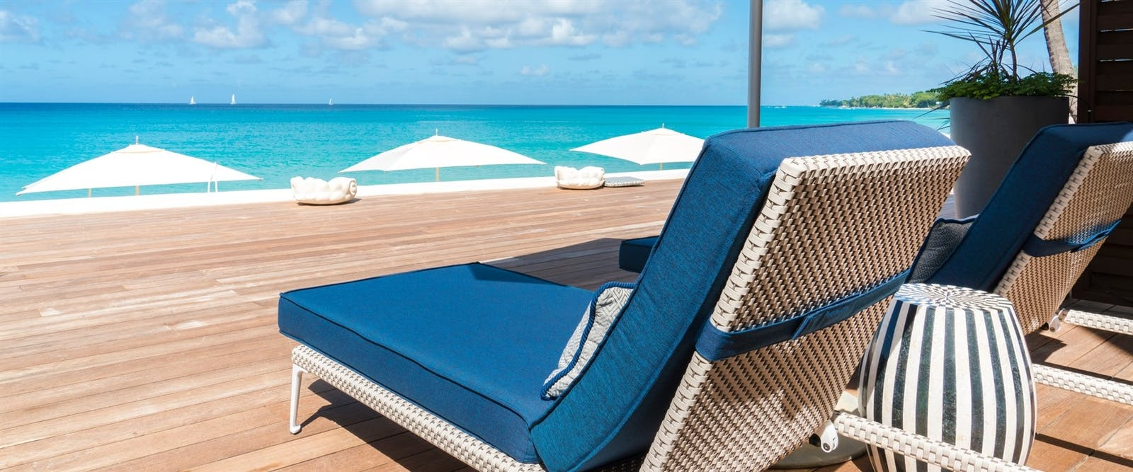 Beachfront Suite Patio at Fairmont Royal Pavilion, Barbados