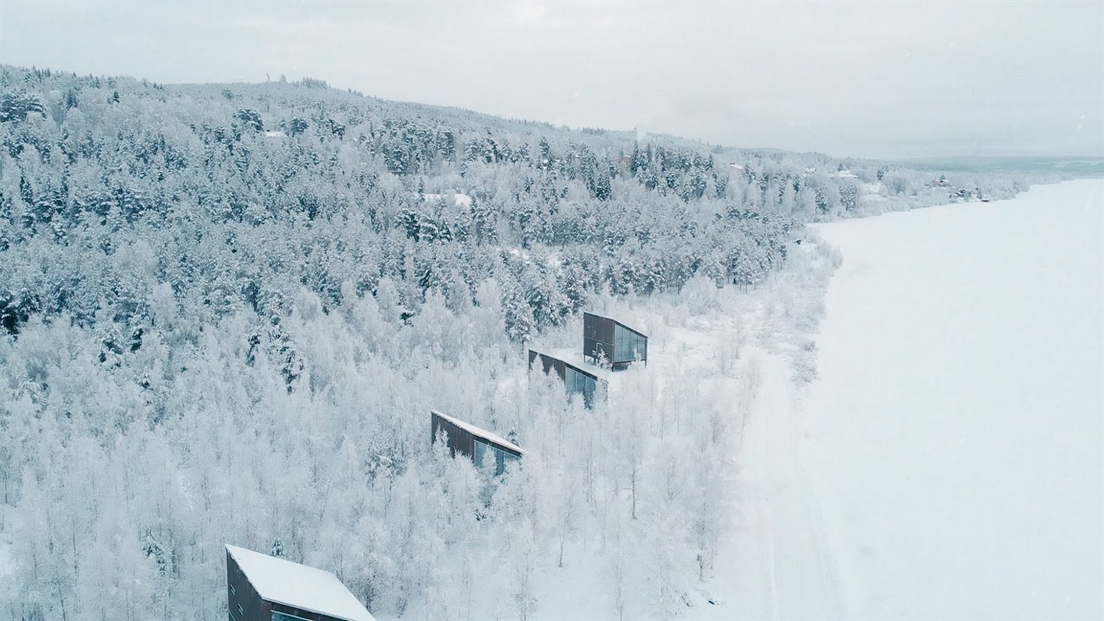 View of the Suites, Arctic Bath, Sweden