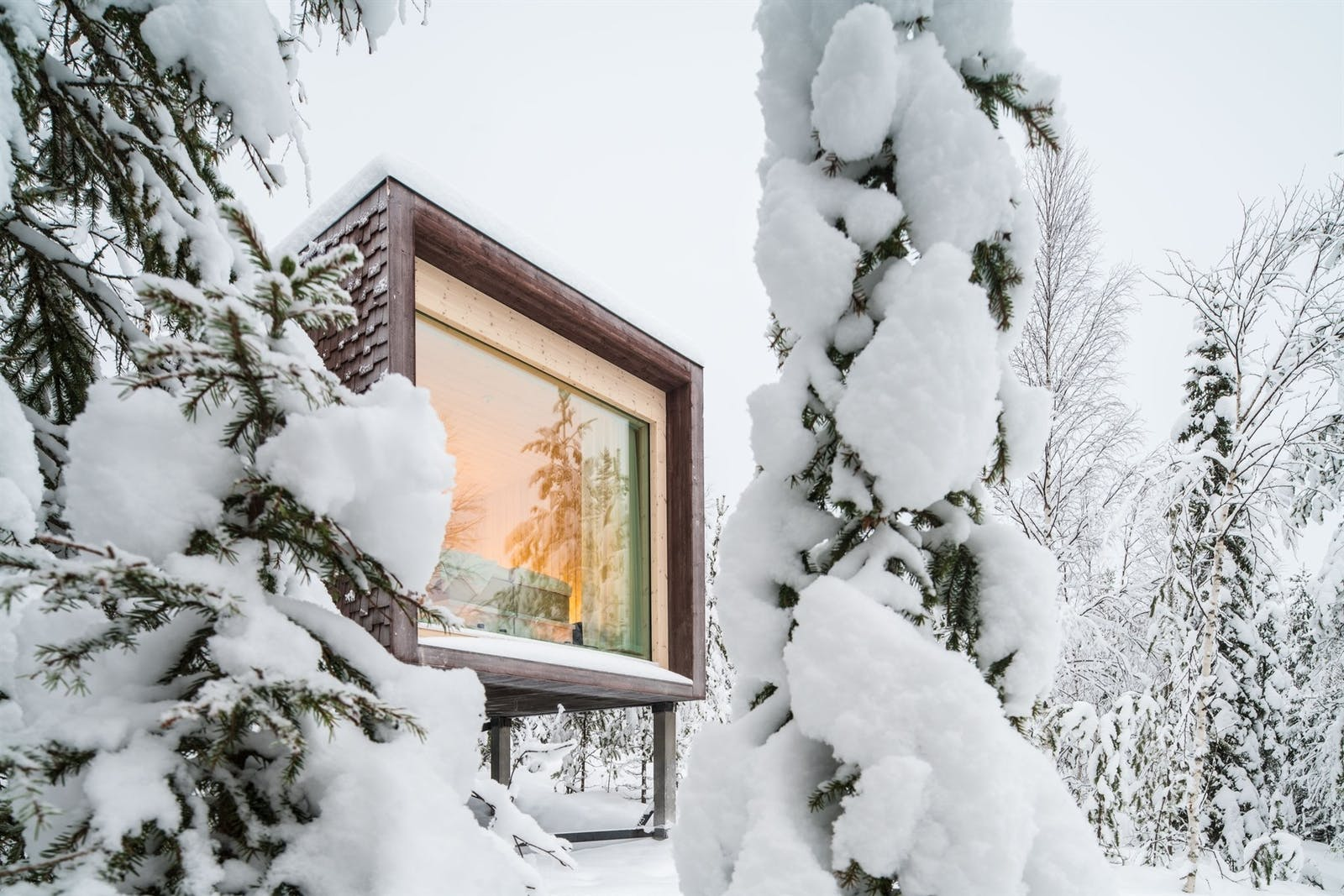 Exterior view of Suite, Arctic Treehouse Hotel, Finland