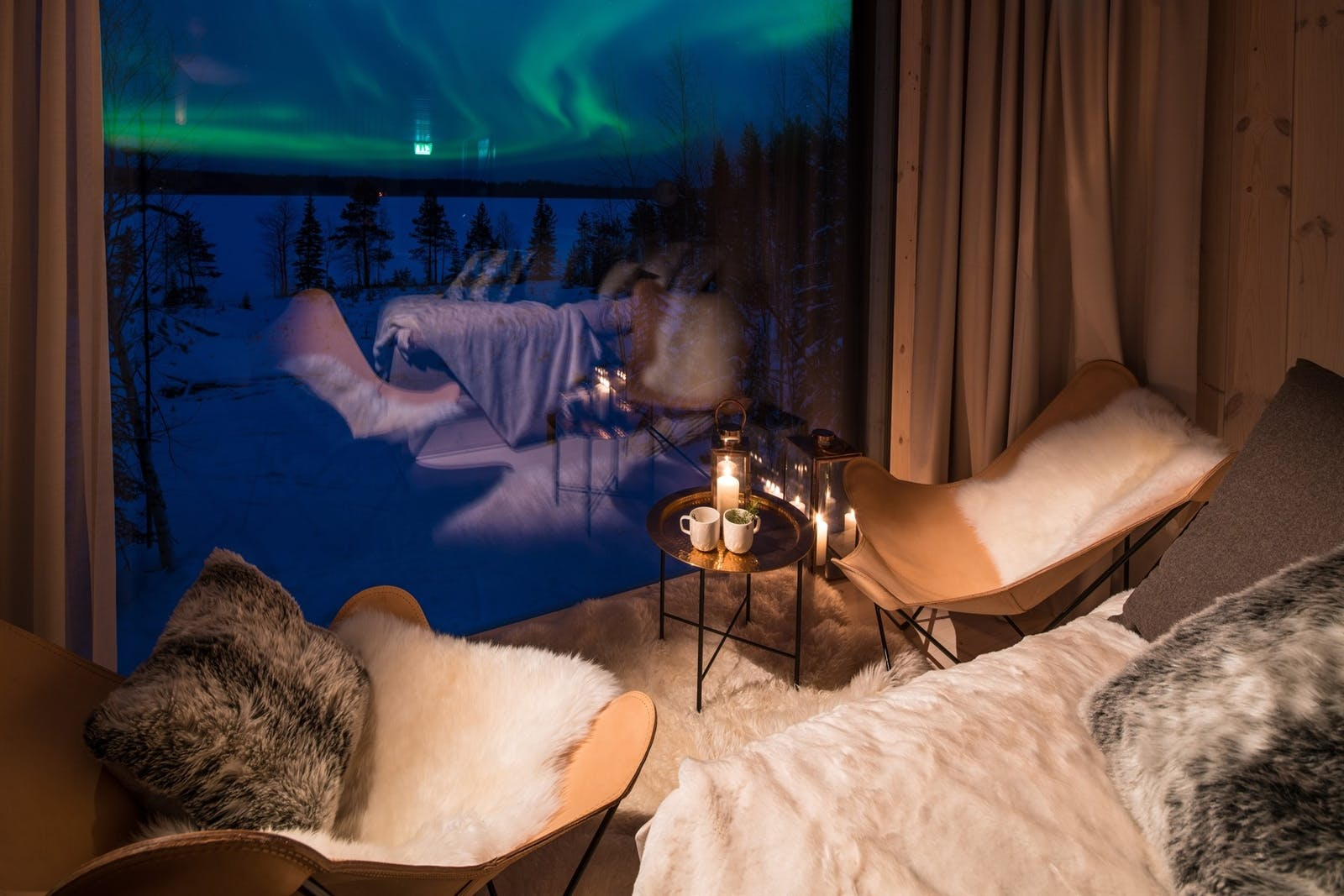 Suite Sitting Area, Arctic Treehouse Hotel, Finland