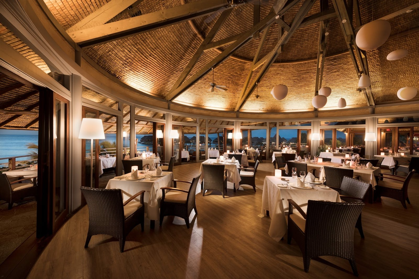 Arri Vahine Restaurant at Hilton Moorea Lagoon Resort & Spa, French Polynesia
