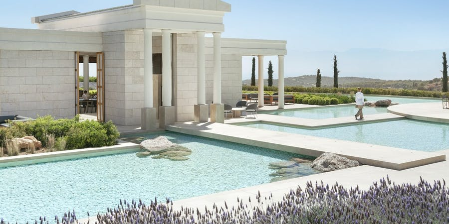 Arrival Pavilion at Amanzoe, Peloponnese, Greece