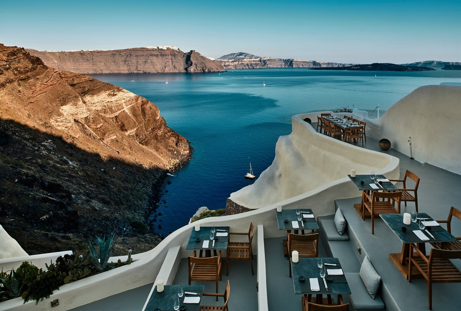 Asea Restaurant, Mystique, Santorini, Greece