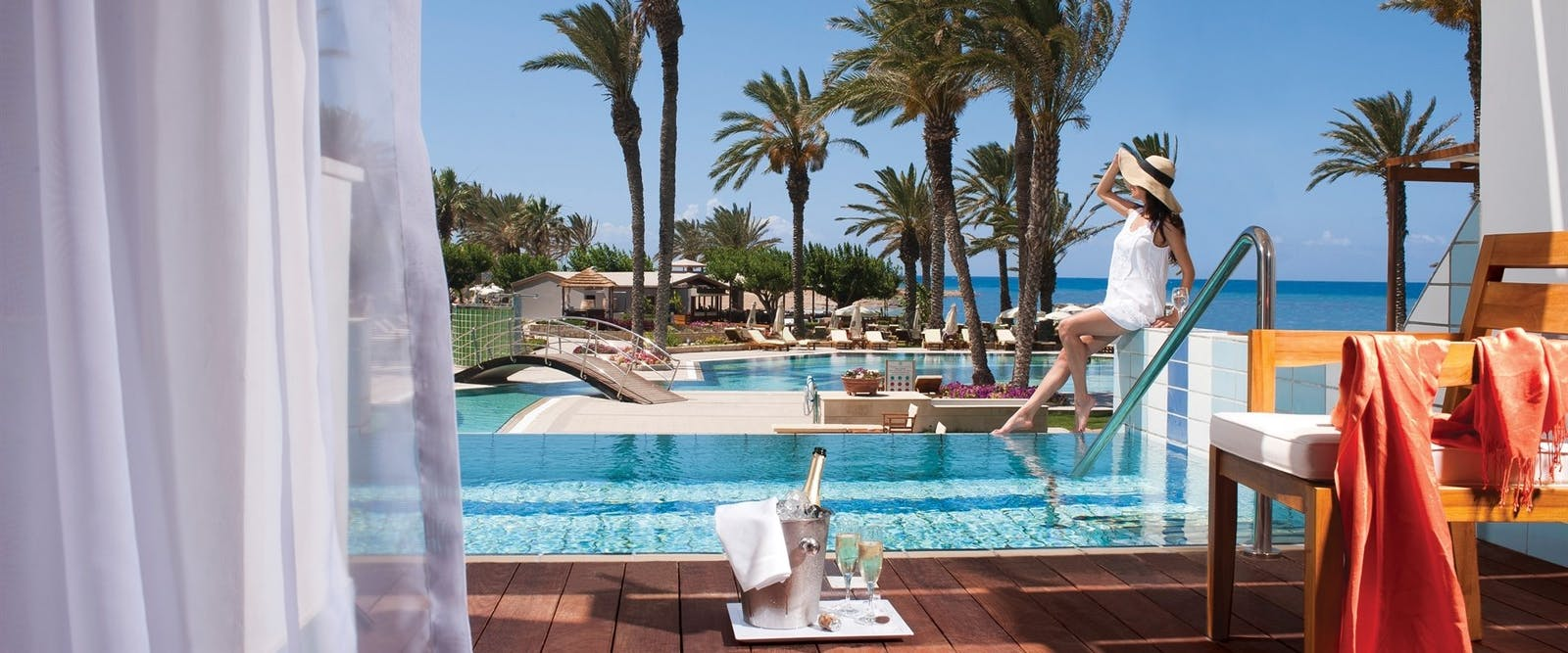 Private Pool at Constantinou Bros Asimina Suites Hotel, Paphos, Cyprus