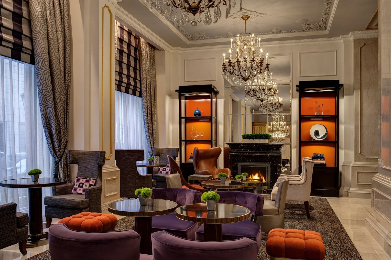 astor court fireplace at the st regis new york