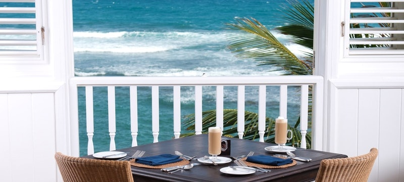 Indulge whilst overlooking the ocean at The Atlantis, Barbados