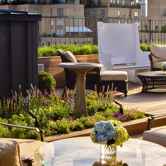 Private roof garden at The Surrey, New York