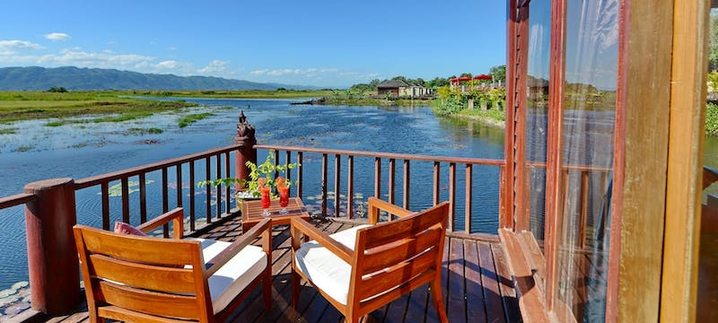Balcony at Aureum Palace Resort & Spa Inle