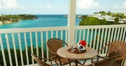 Balcony view overlooking the ocean at The Verandah Resort & Spa, Antigua