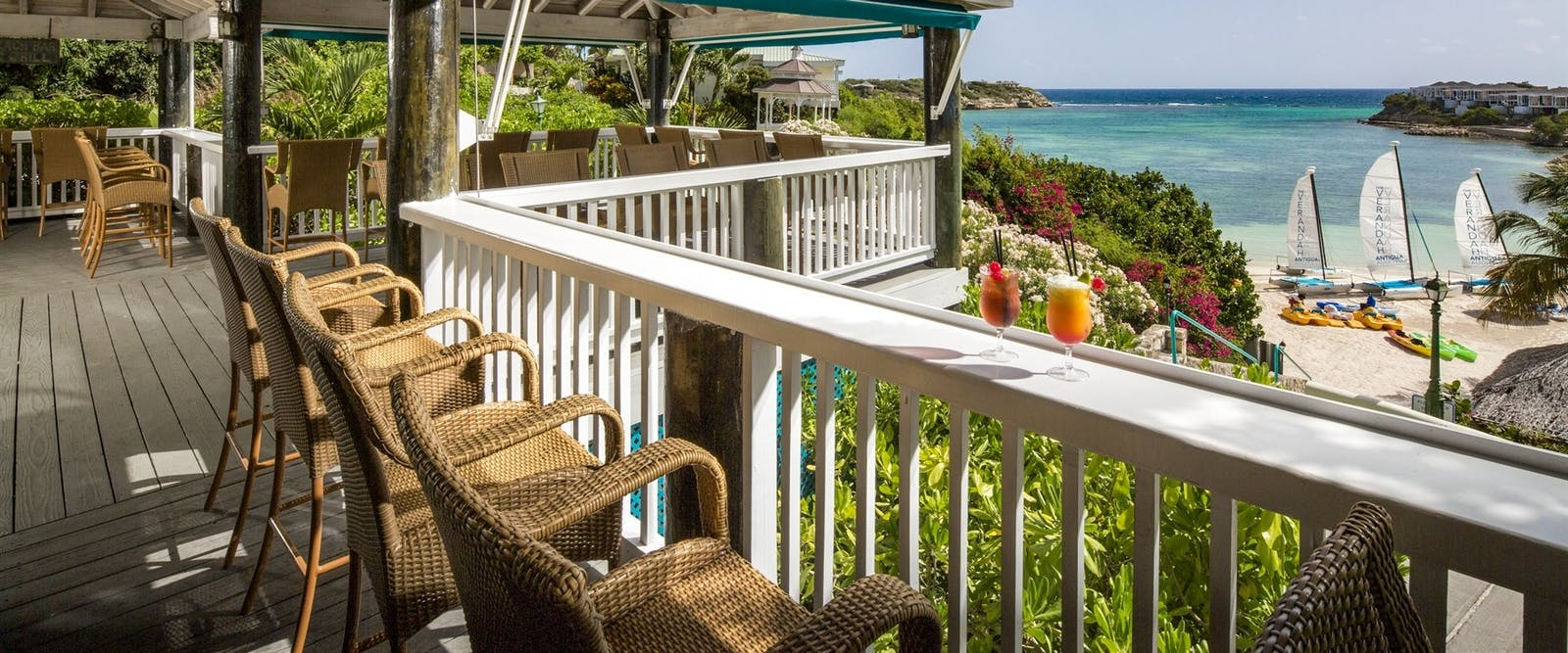 Bar Overlooking The Beach at The Verandah Resort & Spa, Antigua