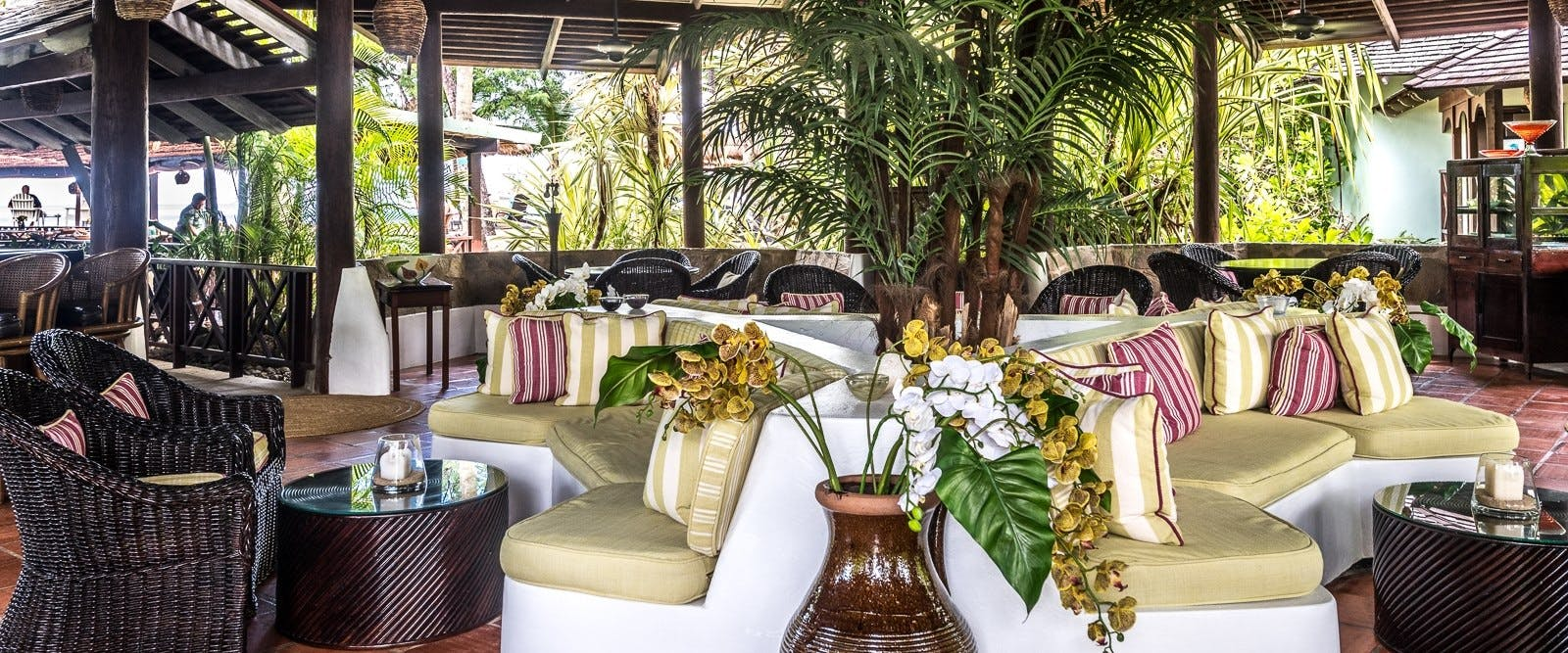 Bamboo lounge at East Winds, St Lucia