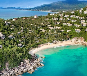 Aerial View of Banyan Tree Samui, Thailand